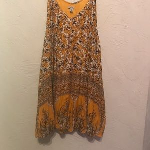 Ecote Urban Outfitters Yellow Thea printed Dress